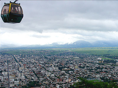 View from the teleferico of Salta, Argentina
