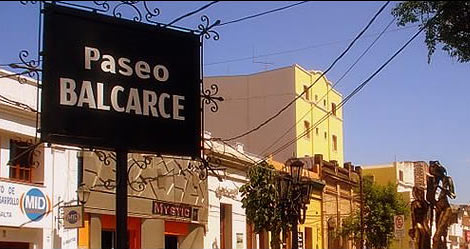 Artsy and independent Paseo Balcarce, center of the town's nightlife, Salta, Argentina