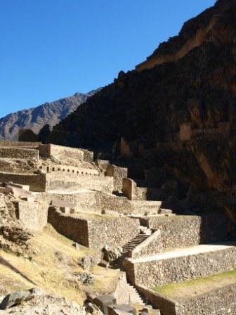 The mountainside fortress of Ollantaytambo, Sacred Valley, Peru. Photograph: Matthew Barker 2009