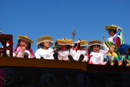 Colorful scenes at the Inti Raymi festival, Cusco