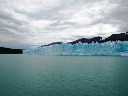 Walls of ice and glacial lakes in Calafate, Patagonia. Photograph: Matthew Barker 2010