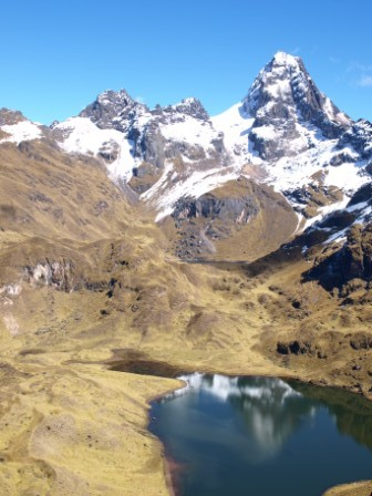 View from the first mountain pass on the Lares Trek, Peru. Photograph: Matthew Barker 2009