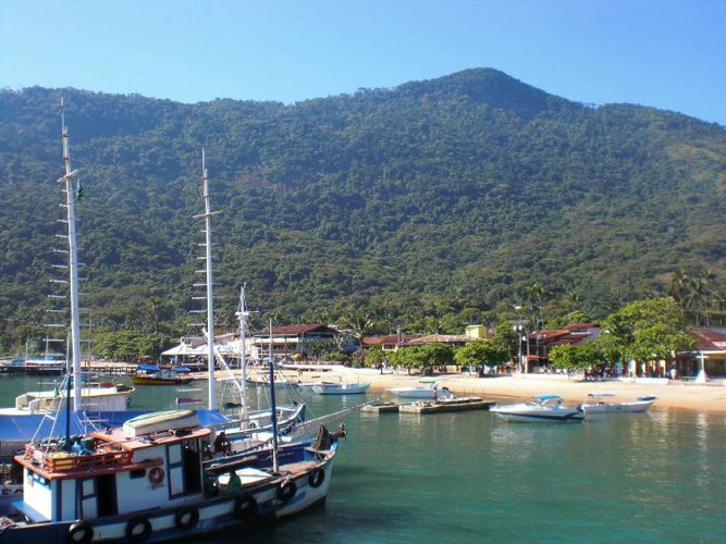 The main town on tropical Ilha Grande, Brazil